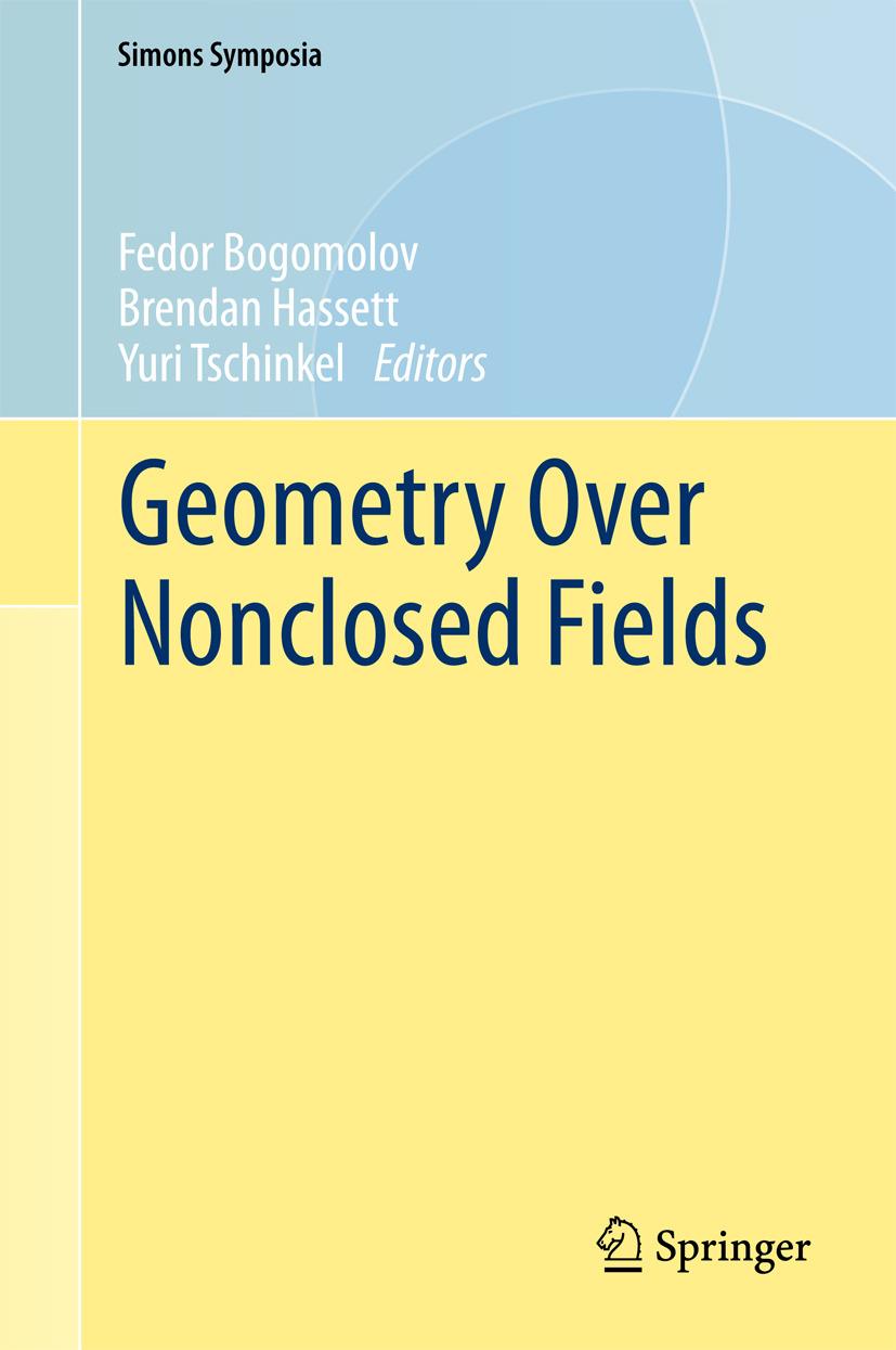 Bogomolov, Fedor - Geometry Over Nonclosed Fields, ebook
