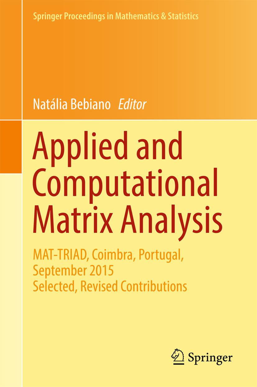 Bebiano, Natália - Applied and Computational Matrix Analysis, ebook