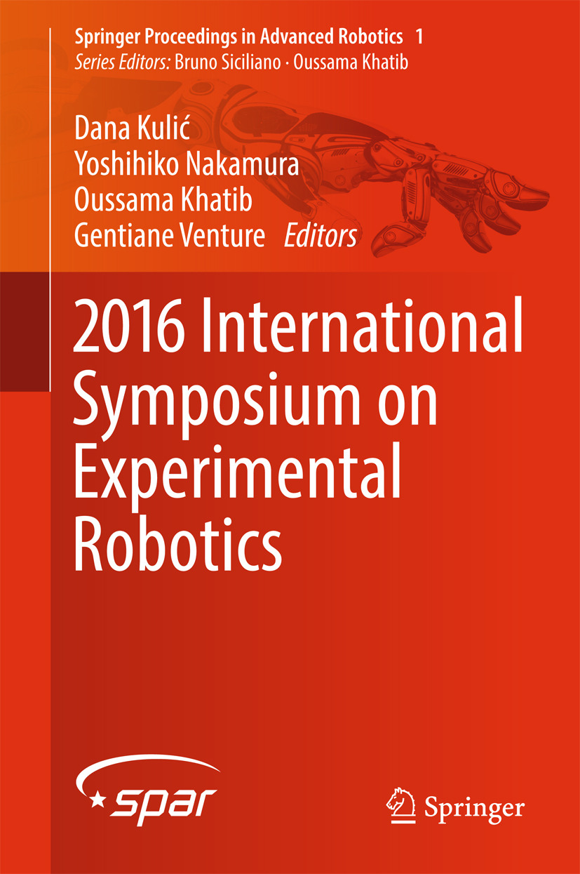 Khatib, Oussama - 2016 International Symposium on Experimental Robotics, ebook