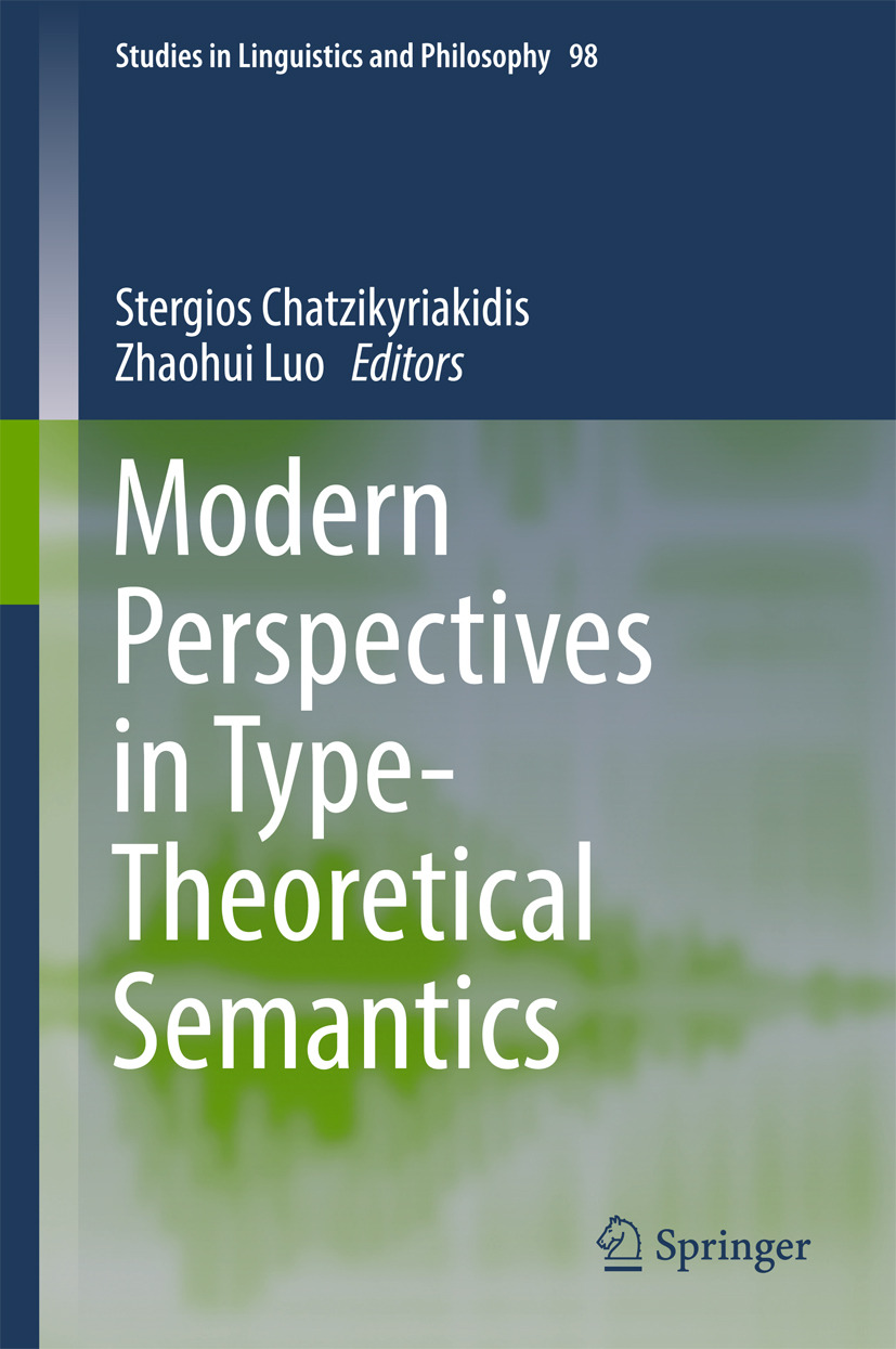 Chatzikyriakidis, Stergios - Modern Perspectives in Type-Theoretical Semantics, ebook