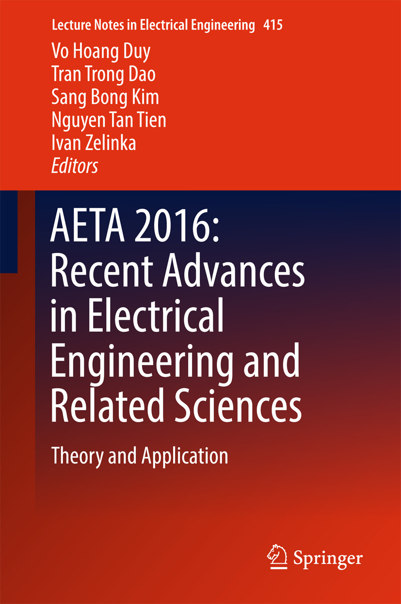 Dao, Tran Trong - AETA 2016: Recent Advances in Electrical Engineering and Related Sciences, ebook