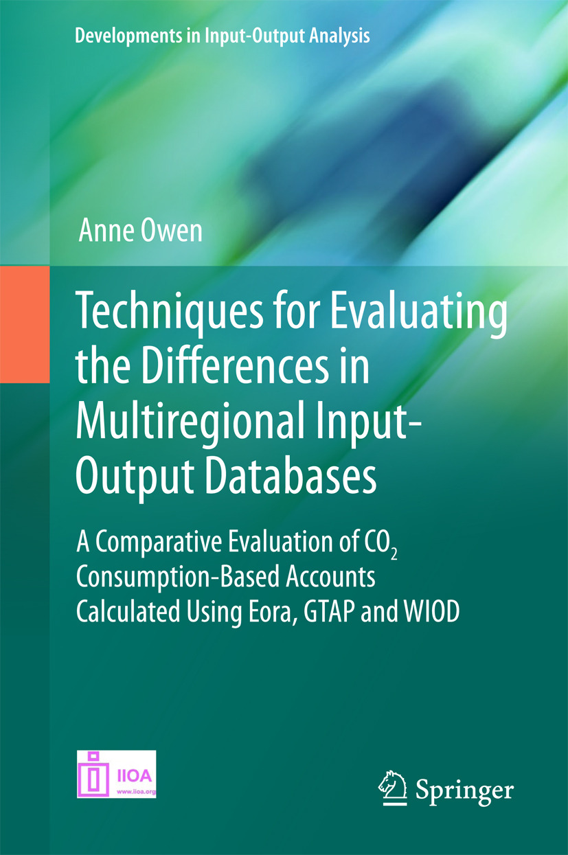Owen, Anne - Techniques for Evaluating the Differences in Multiregional Input-Output Databases, ebook