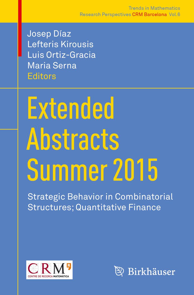 Díaz, Josep - Extended Abstracts Summer 2015, ebook