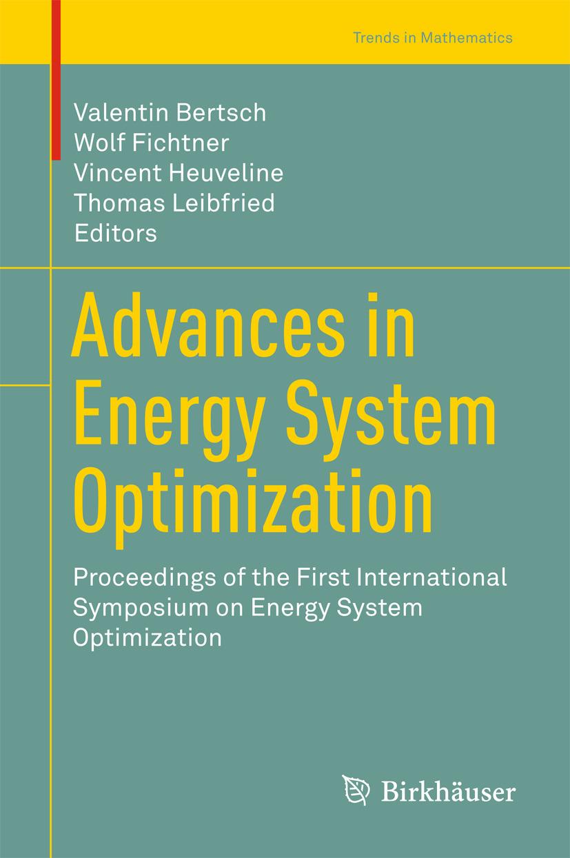 Bertsch, Valentin - Advances in Energy System Optimization, ebook