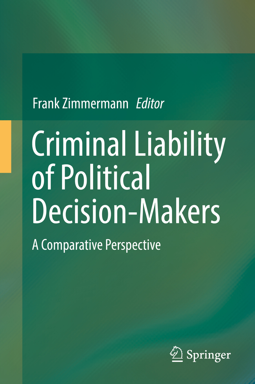 Zimmermann, Frank - Criminal Liability of Political Decision-Makers, ebook