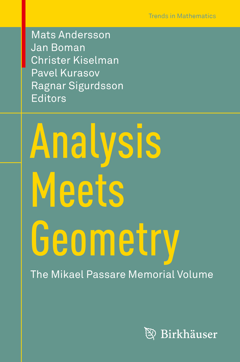 Andersson, Mats - Analysis Meets Geometry, ebook