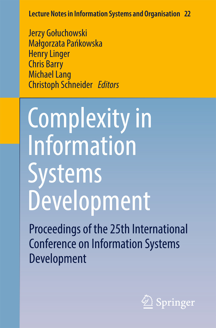 Barry, Chris - Complexity in Information Systems Development, e-bok