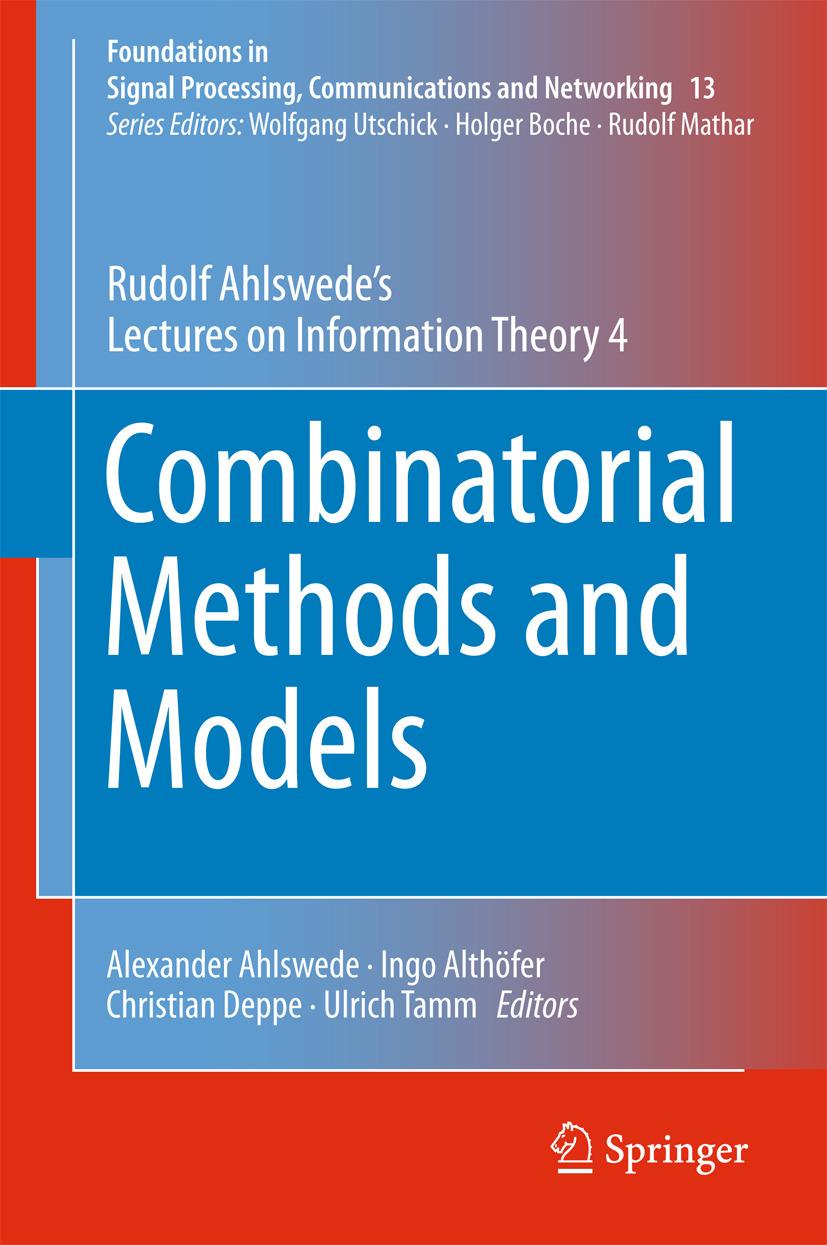, Rudolf Ahlswede - Combinatorial Methods and Models, ebook