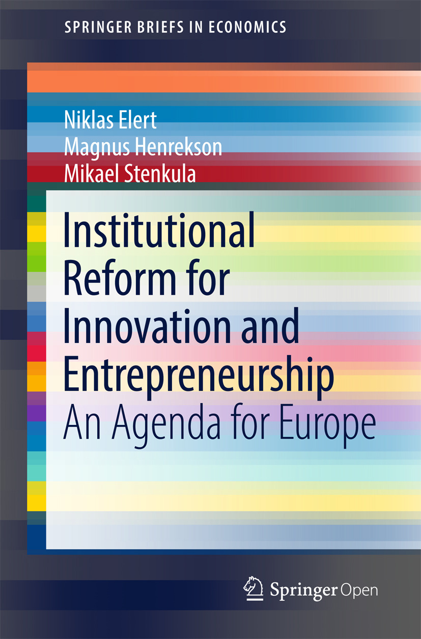 Elert, Niklas - Institutional Reform for Innovation and Entrepreneurship, e-kirja