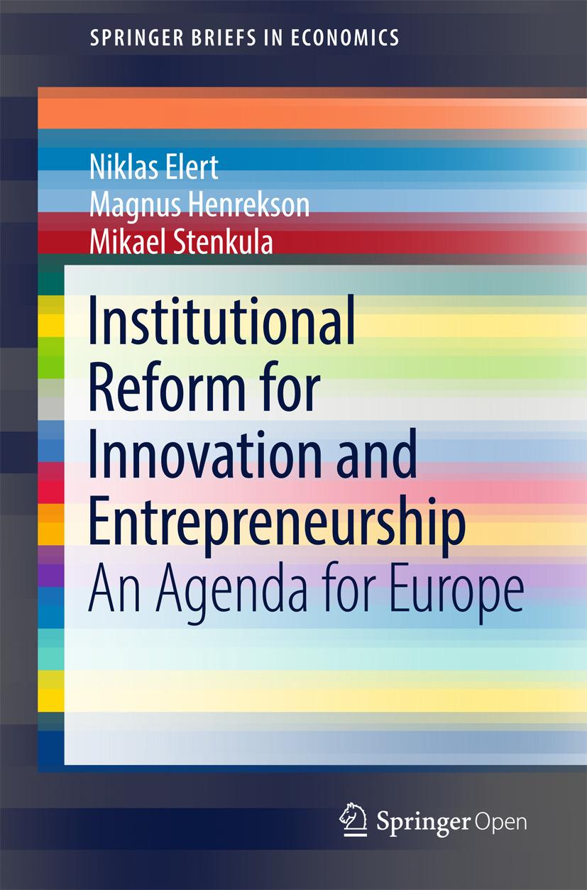 Elert, Niklas - Institutional Reform for Innovation and Entrepreneurship, ebook