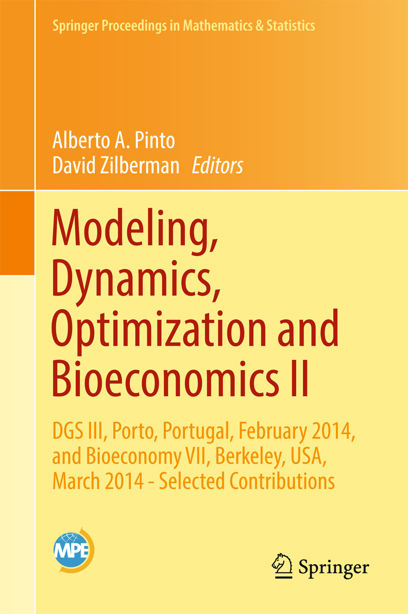 Pinto, Alberto A. - Modeling, Dynamics, Optimization and Bioeconomics II, ebook
