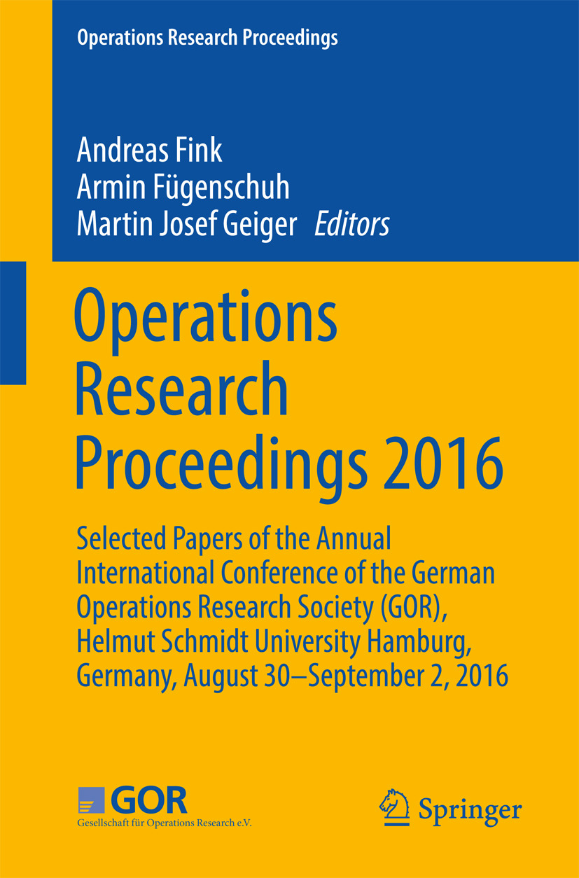 Fink, Andreas - Operations Research Proceedings 2016, ebook