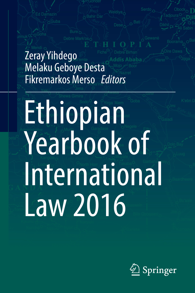 Desta, Melaku Geboye - Ethiopian Yearbook of International Law 2016, ebook