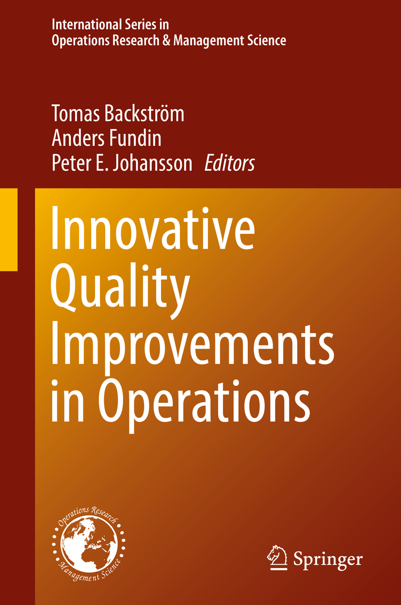 Backström, Tomas - Innovative Quality Improvements in Operations, ebook