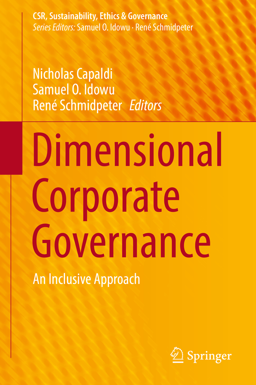 Capaldi, Nicholas - Dimensional Corporate Governance, ebook