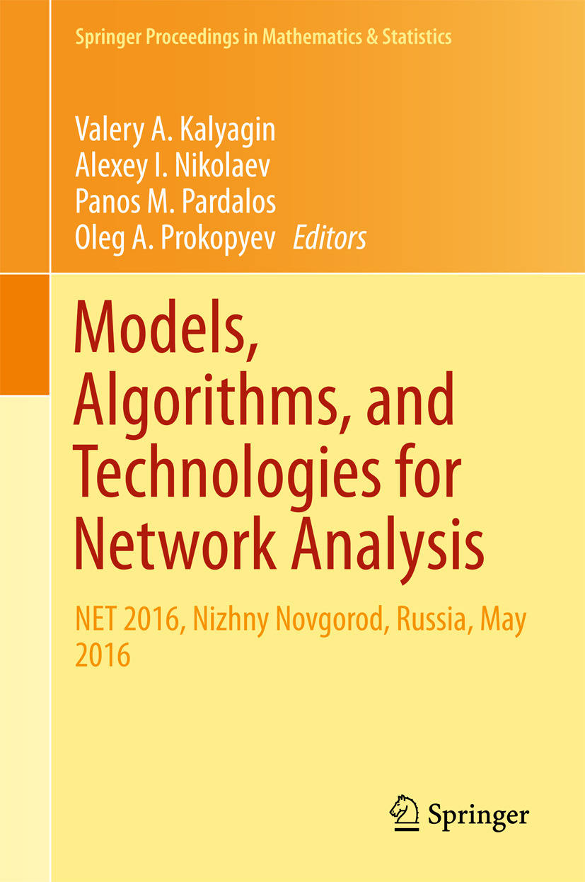Kalyagin, Valery A. - Models, Algorithms, and Technologies for Network Analysis, ebook