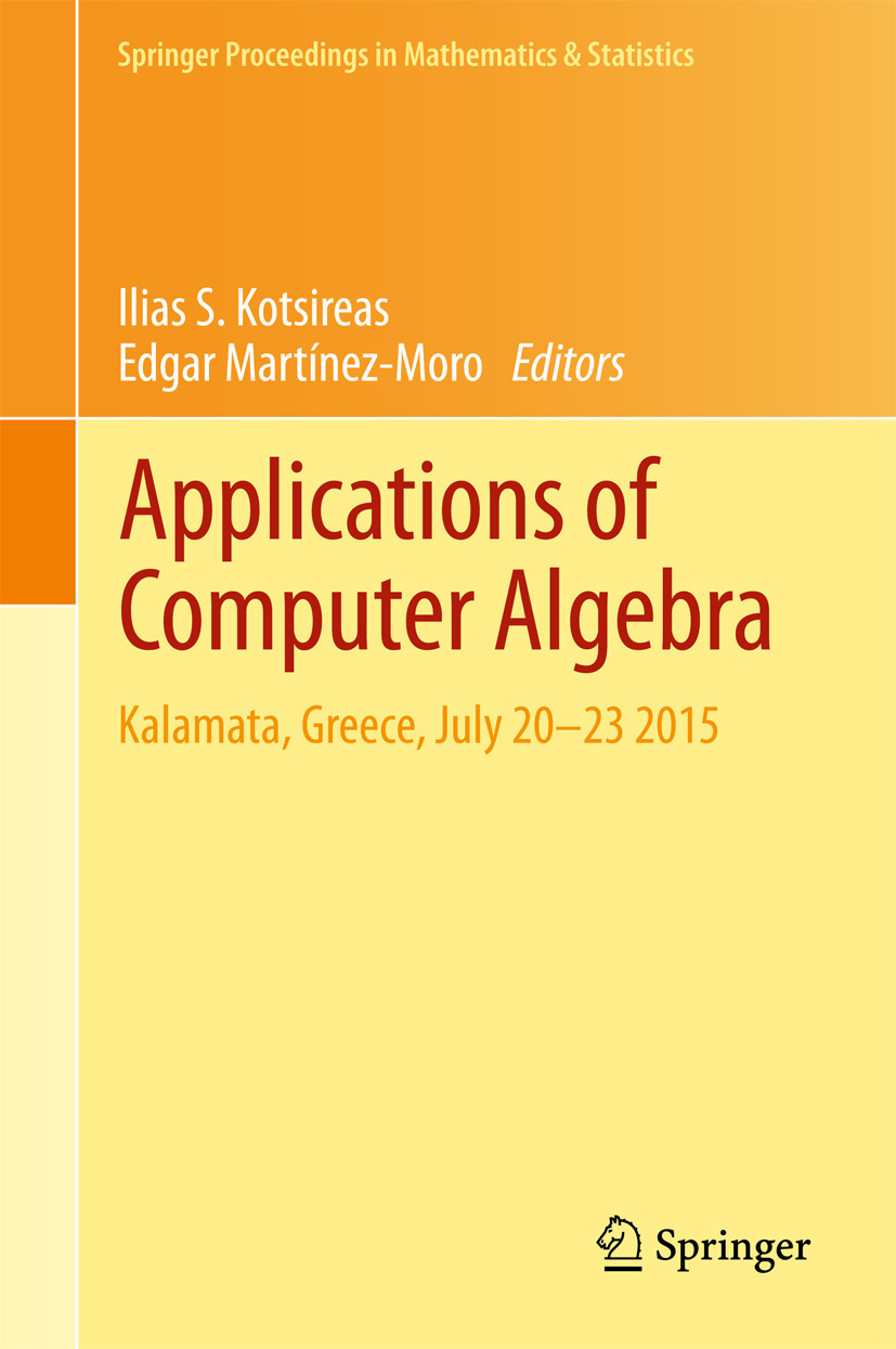 Kotsireas, Ilias S. - Applications of Computer Algebra, ebook