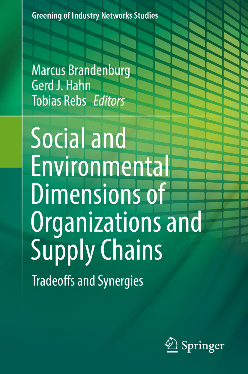 Brandenburg, Marcus - Social and Environmental Dimensions of Organizations and Supply Chains, ebook