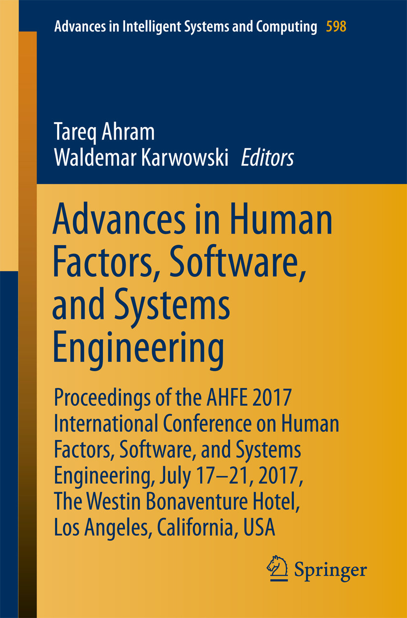 Ahram, Tareq - Advances in Human Factors, Software, and Systems Engineering, ebook