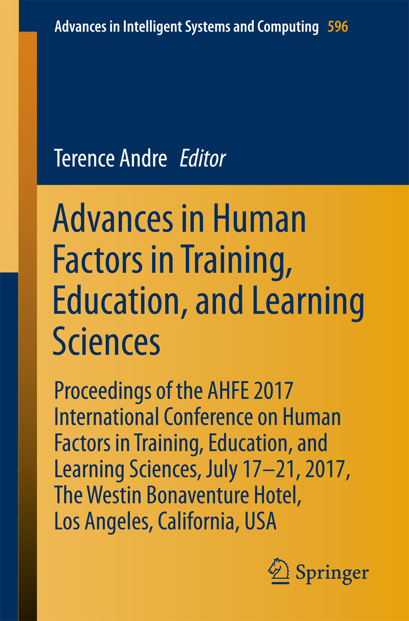Andre, Terence - Advances in Human Factors in Training, Education, and Learning Sciences, ebook
