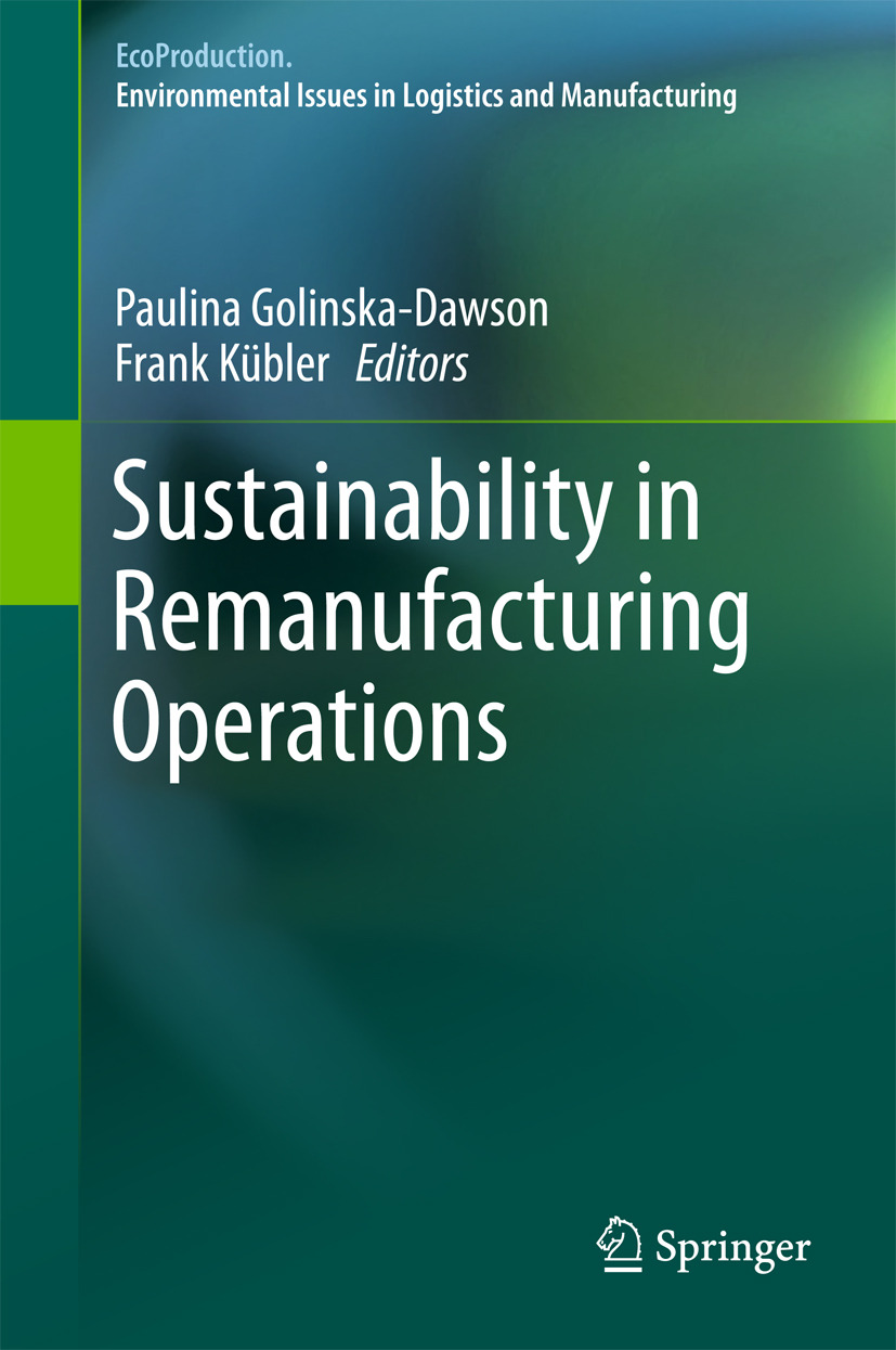 Golinska-Dawson, Paulina - Sustainability in Remanufacturing Operations, ebook