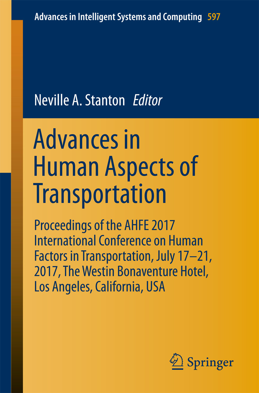 Stanton, Neville A - Advances in Human Aspects of Transportation, ebook
