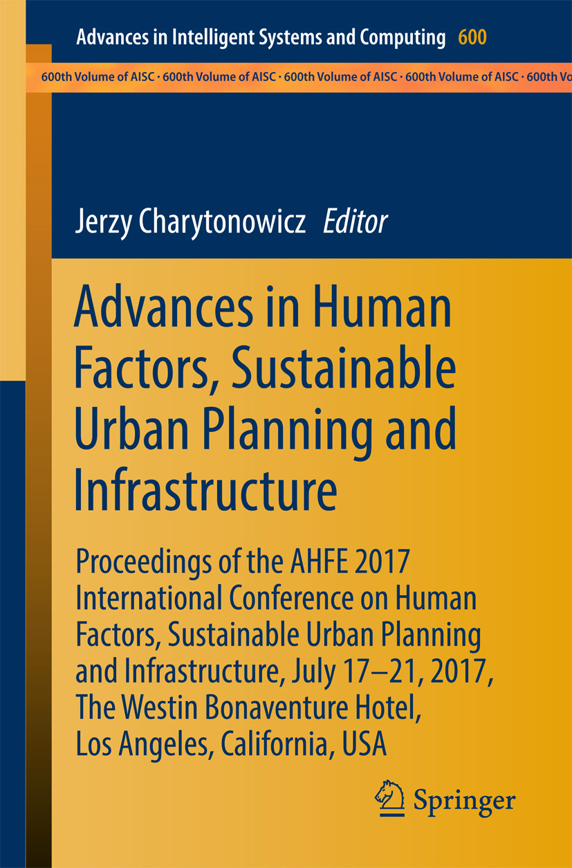 Charytonowicz, Jerzy - Advances in Human Factors, Sustainable Urban Planning and Infrastructure, ebook