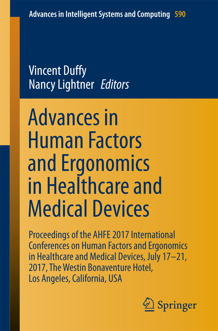 Duffy, Vincent - Advances in Human Factors and Ergonomics in Healthcare and Medical Devices, ebook