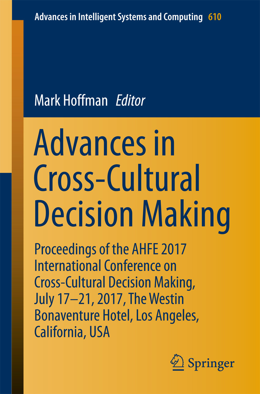 Hoffman, Mark - Advances in Cross-Cultural Decision Making, ebook