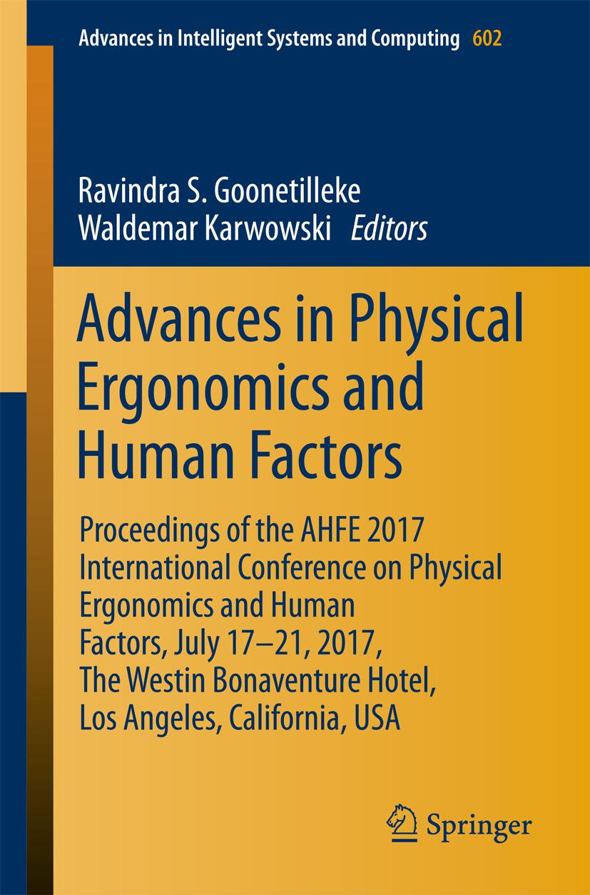Goonetilleke, Ravindra S. - Advances in Physical Ergonomics and Human Factors, ebook