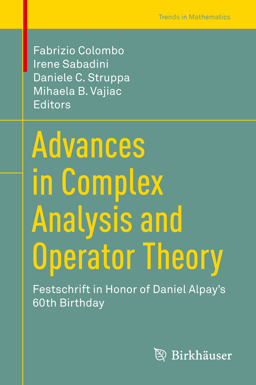 Colombo, Fabrizio - Advances in Complex Analysis and Operator Theory, ebook