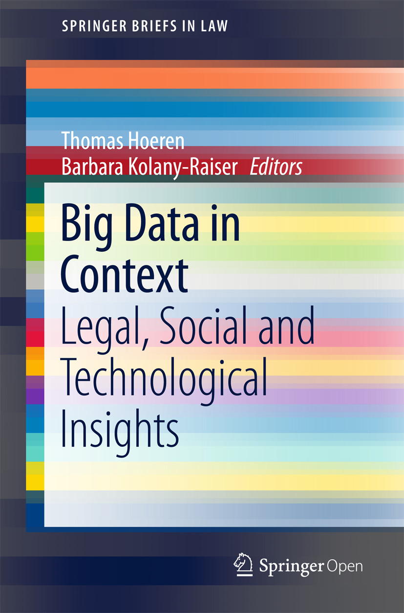 Hoeren, Thomas - Big Data in Context, ebook