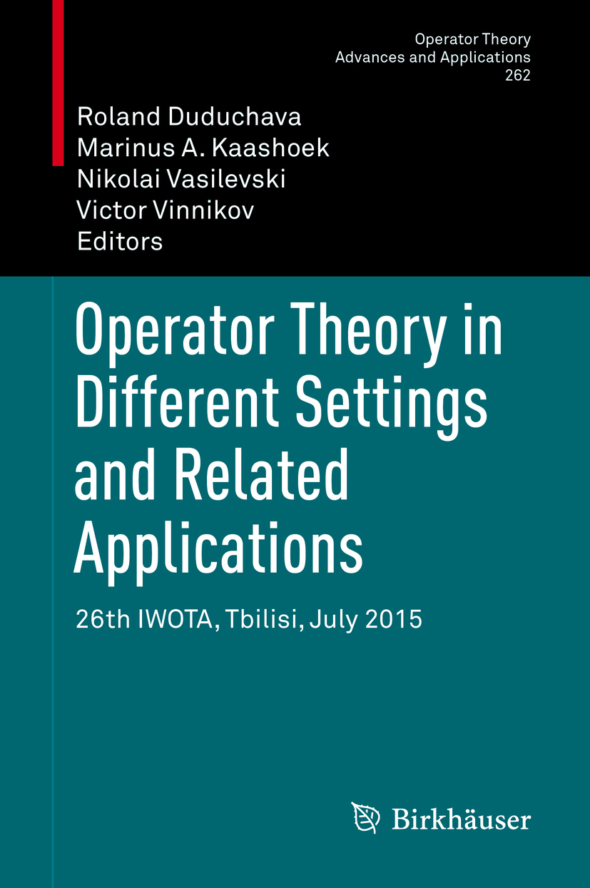 Duduchava, Roland - Operator Theory in Different Settings and Related Applications, ebook
