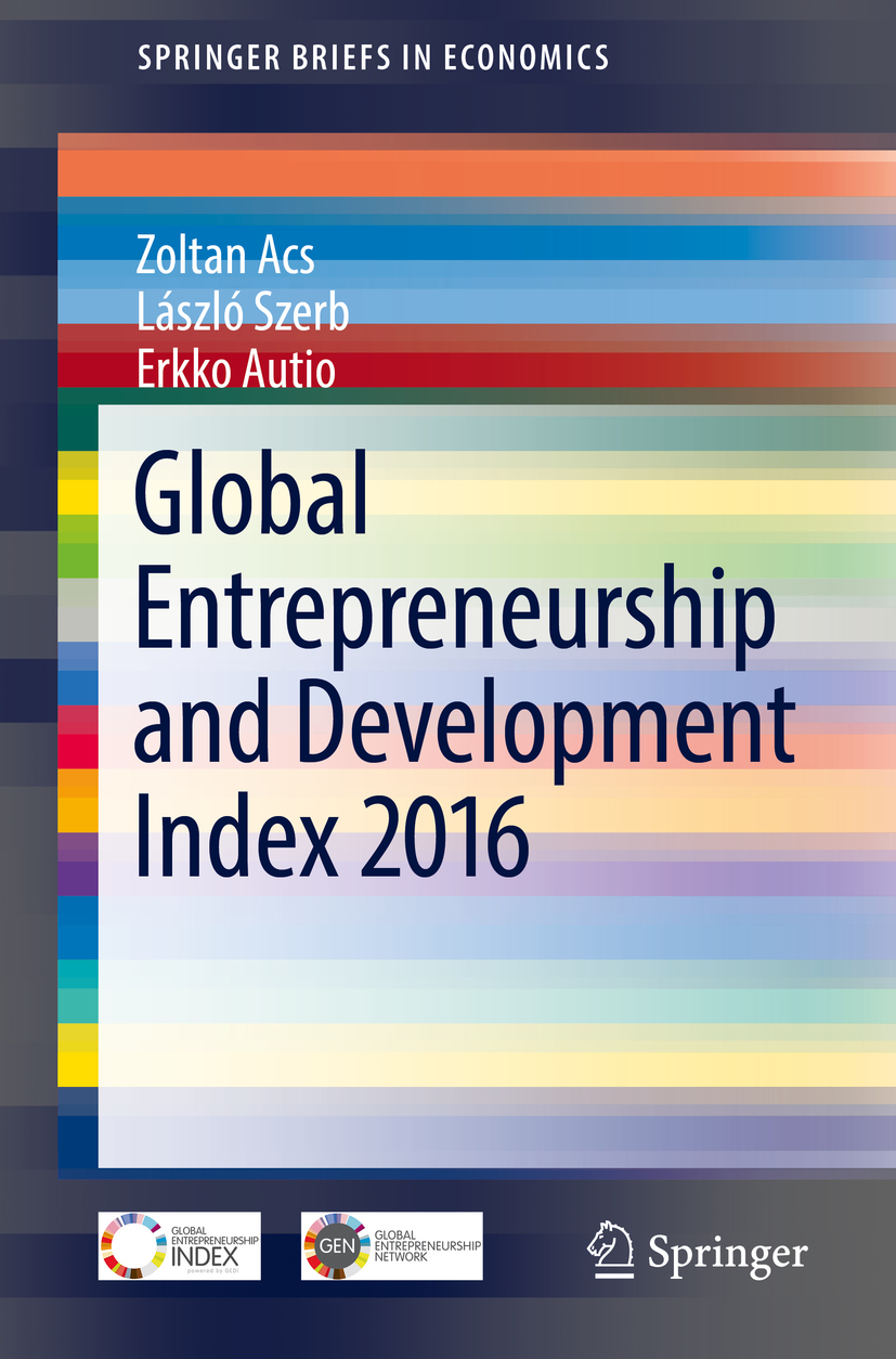 Acs, Zoltan - Global Entrepreneurship and Development Index 2016, ebook