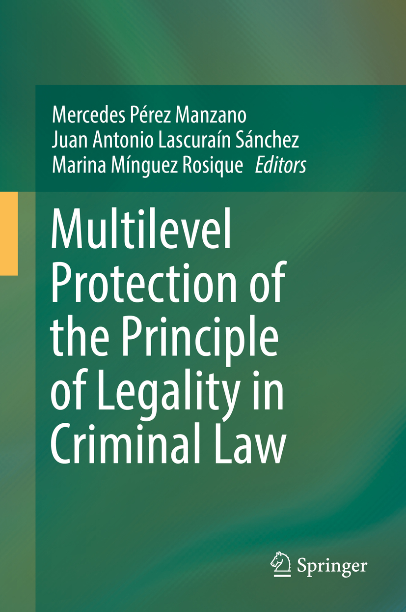Manzano, Mercedes Pérez - Multilevel Protection of the Principle of Legality in Criminal Law, ebook