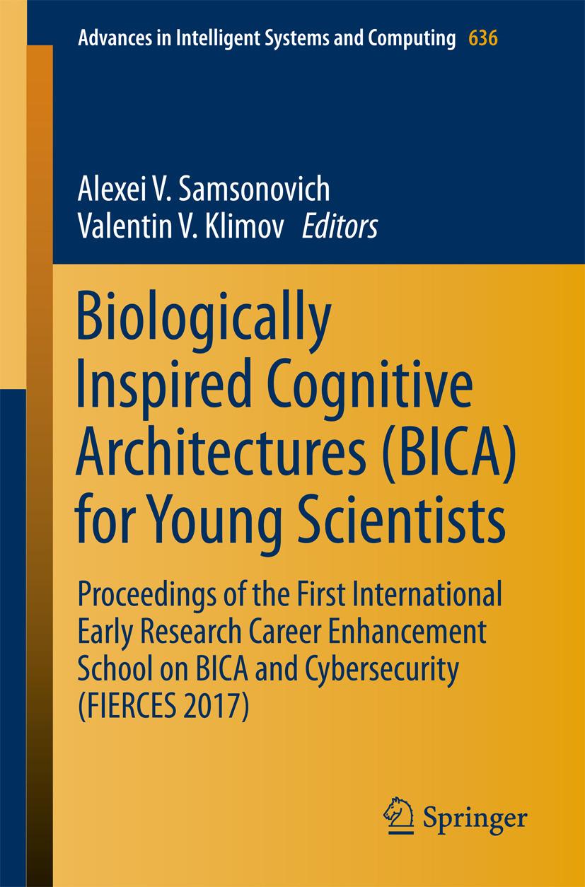 Klimov, Valentin V. - Biologically Inspired Cognitive Architectures (BICA) for Young Scientists, ebook