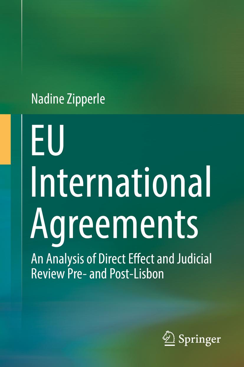 Zipperle, Nadine - EU International Agreements, ebook