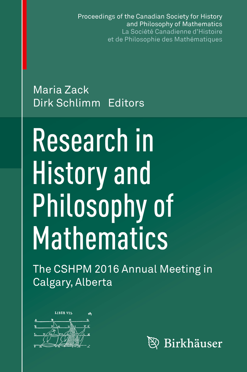 Schlimm, Dirk - Research in History and Philosophy of Mathematics, e-kirja