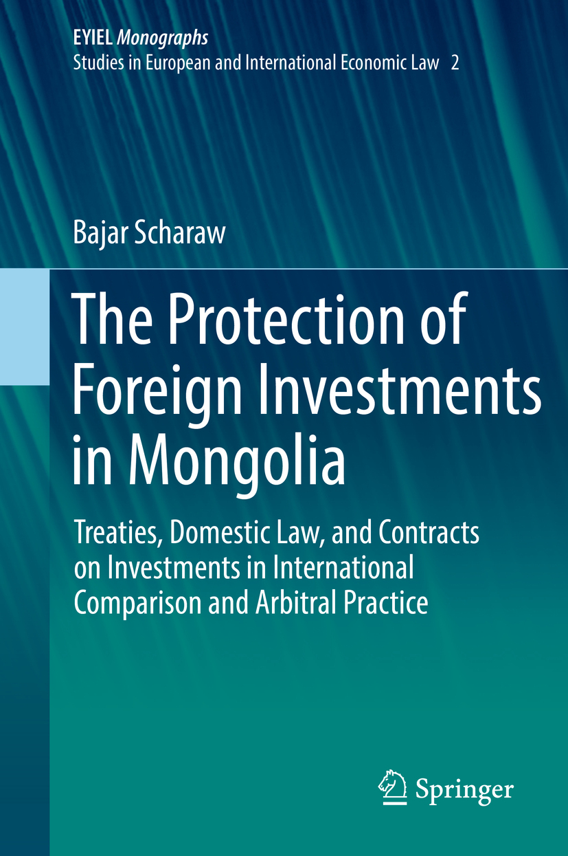 Scharaw, Bajar - The Protection of Foreign Investments in Mongolia, ebook