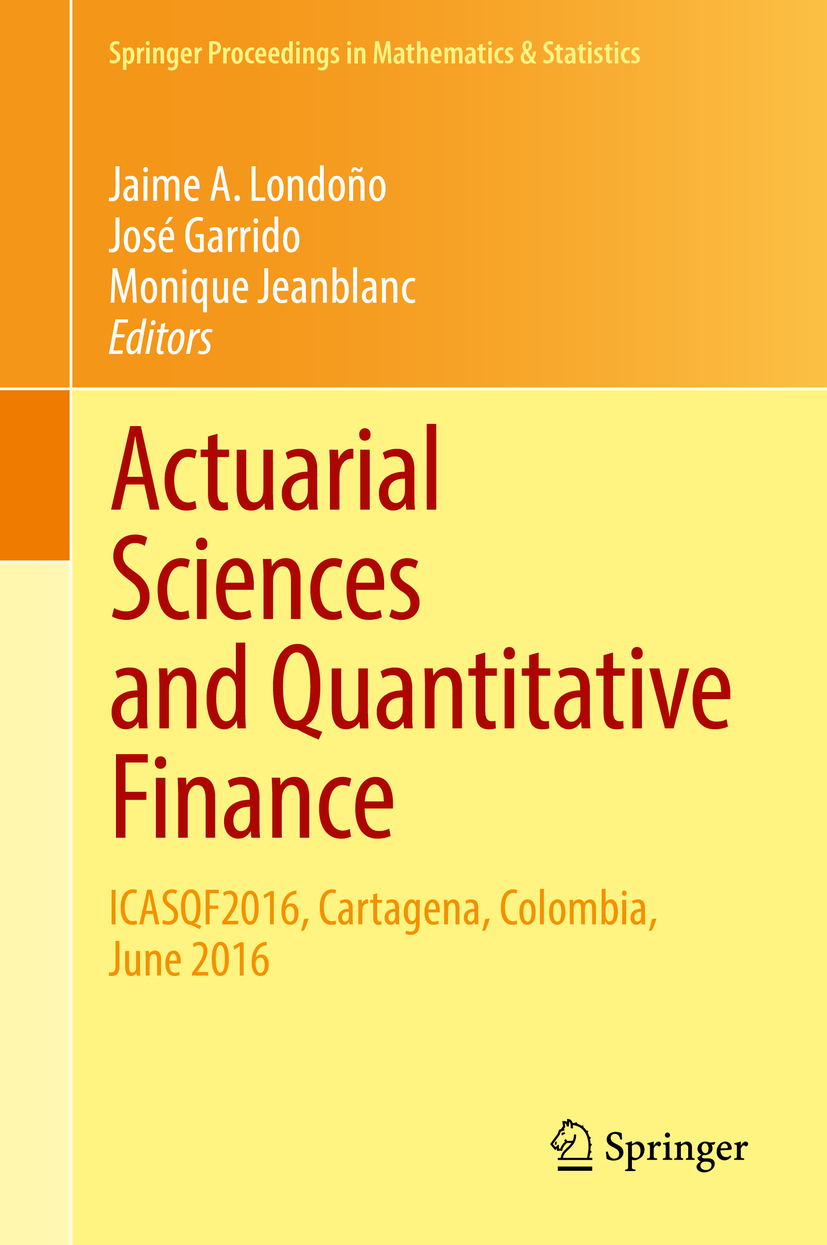 Garrido, José - Actuarial Sciences and Quantitative Finance, ebook