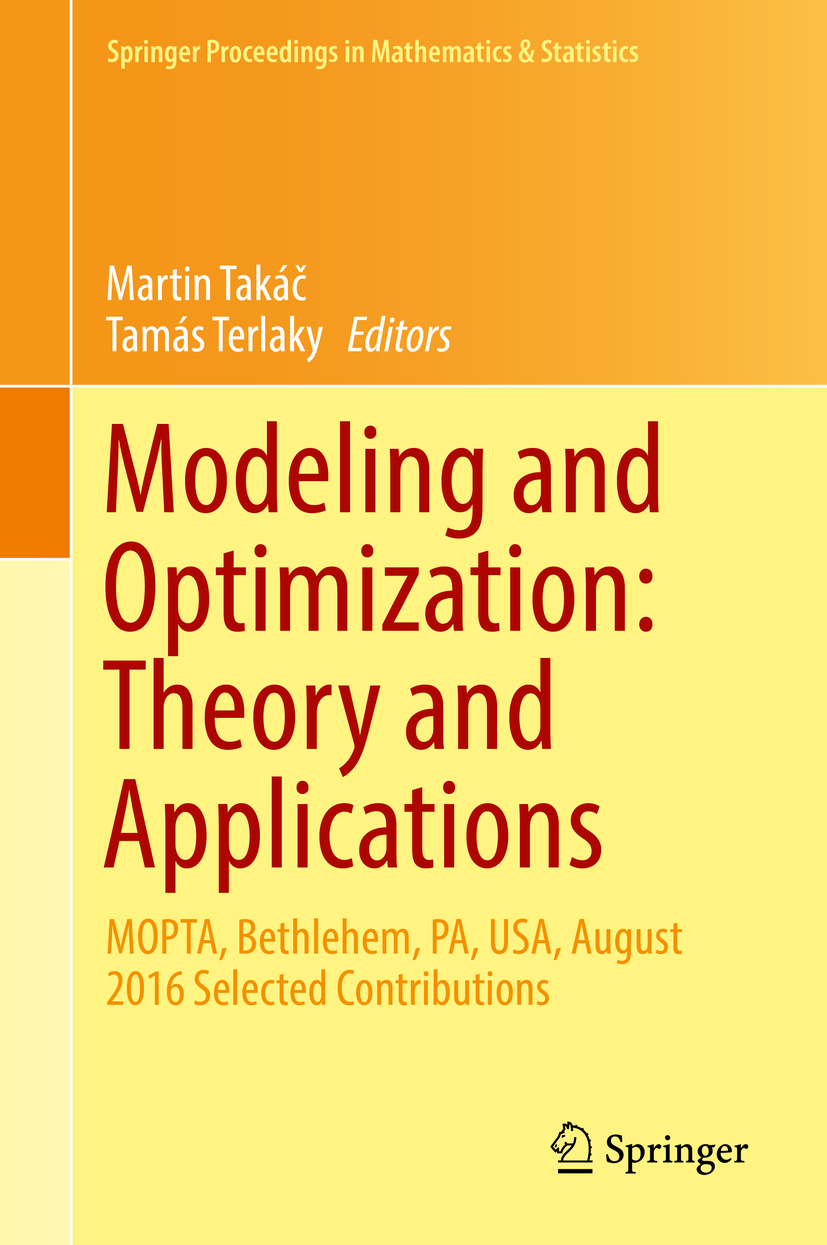 Takáč, Martin - Modeling and Optimization: Theory and Applications, ebook