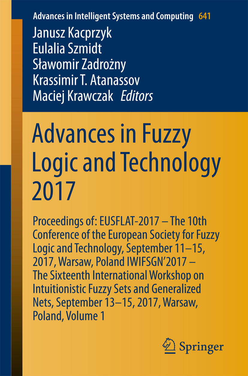 Atanassov, Krassimir T. - Advances in Fuzzy Logic and Technology 2017, ebook