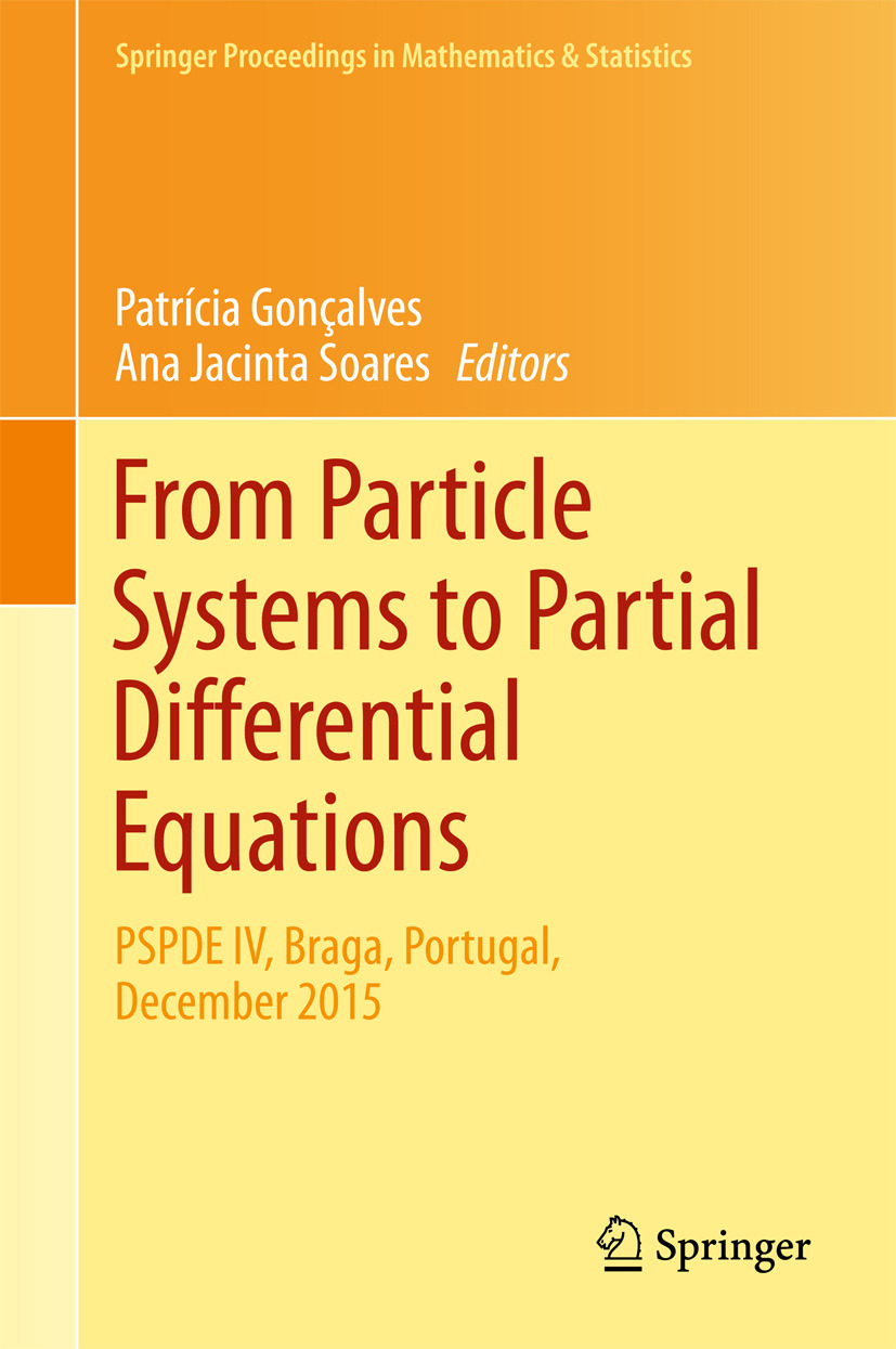 Gonçalves, Patrícia - From Particle Systems to Partial Differential Equations, ebook