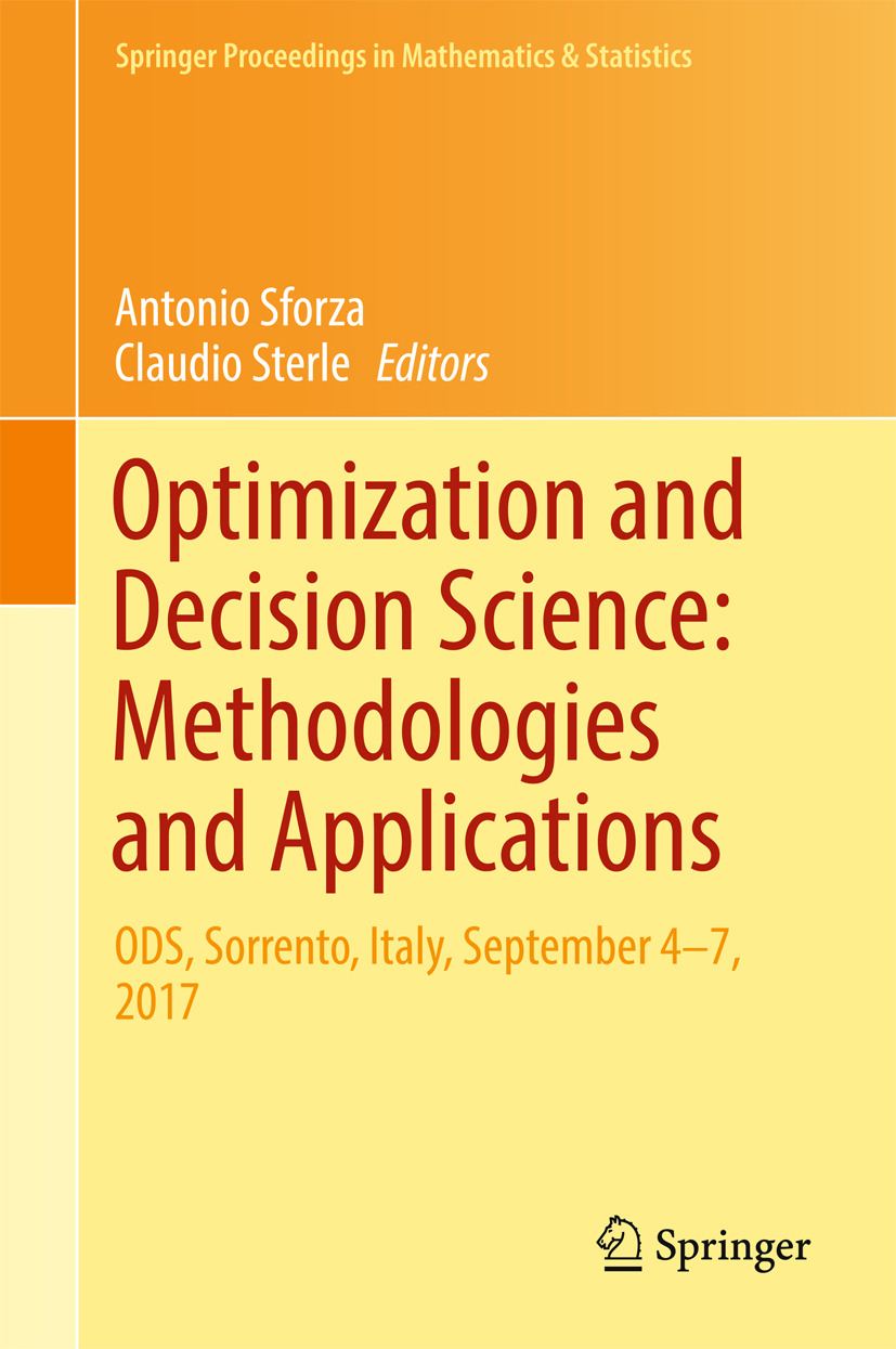 Sforza, Antonio - Optimization and Decision Science: Methodologies and Applications, ebook