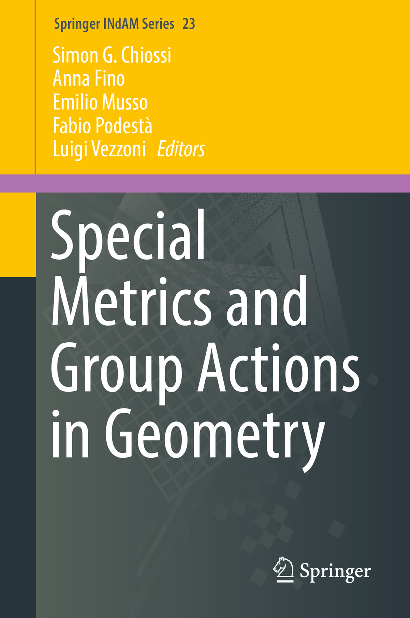 Chiossi, Simon G. - Special Metrics and Group Actions in Geometry, ebook
