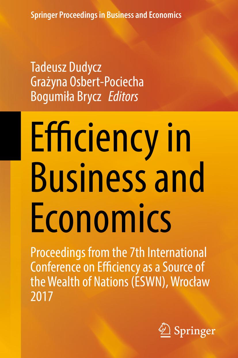 Brycz, Bogumiła - Efficiency in Business and Economics, ebook