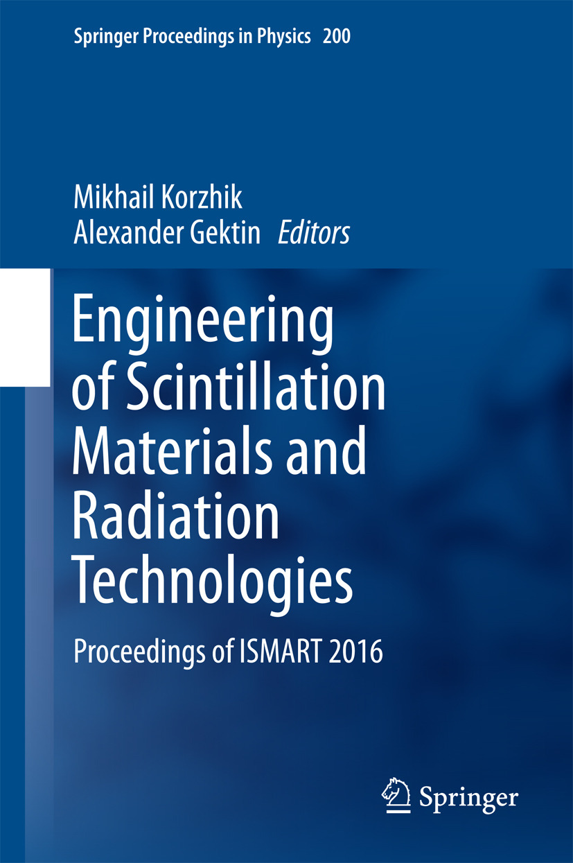 Gektin, Alexander - Engineering of Scintillation Materials and Radiation Technologies, ebook