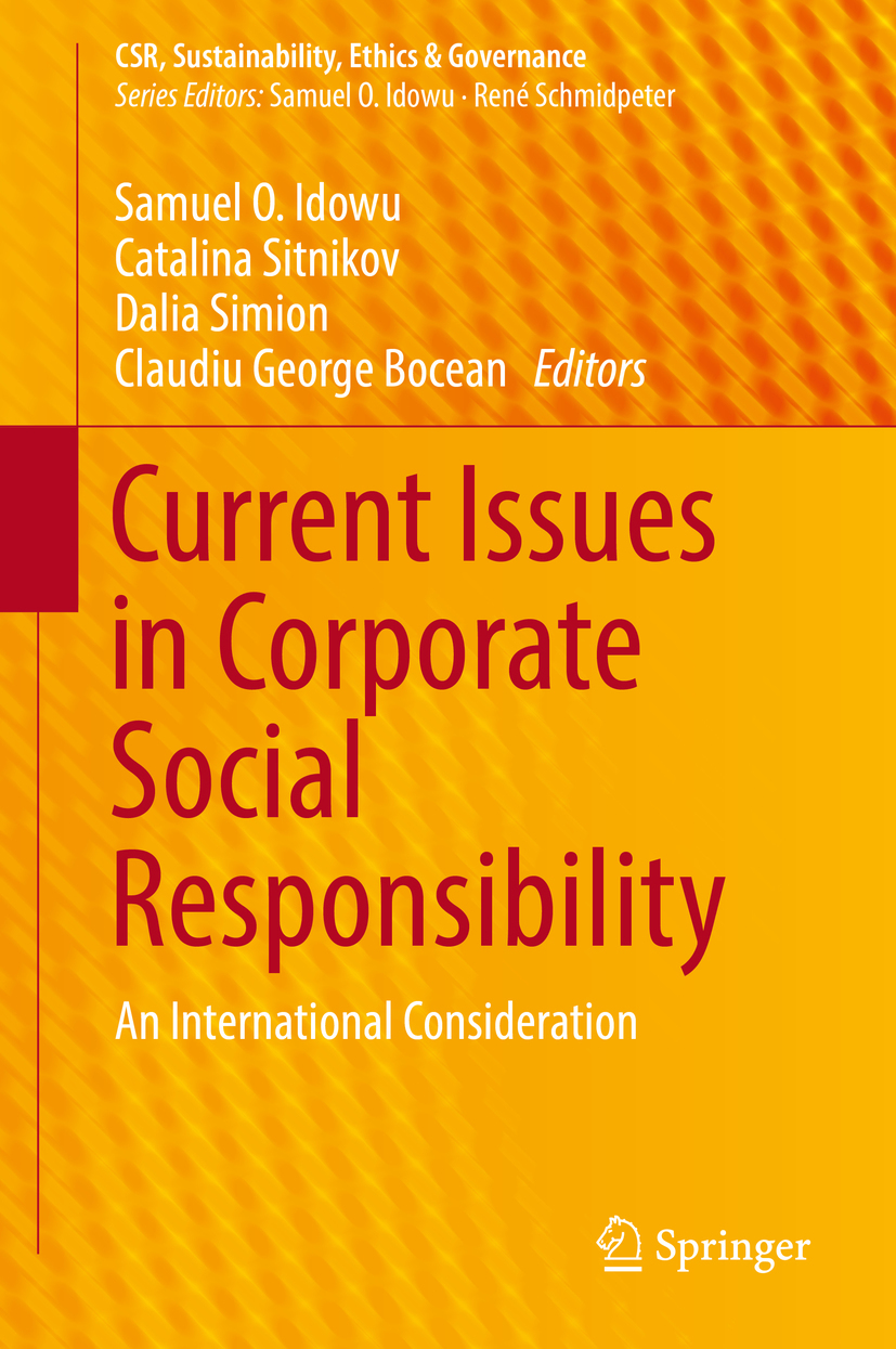 Bocean, Claudiu George - Current Issues in Corporate Social Responsibility, e-kirja