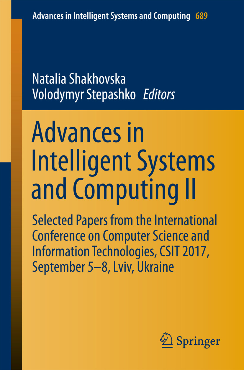 Shakhovska, Natalia - Advances in Intelligent Systems and Computing II, ebook