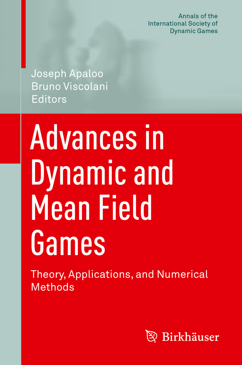 Apaloo, Joseph - Advances in Dynamic and Mean Field Games, ebook